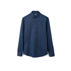Blue Collar Neck Mens Formal Shirt