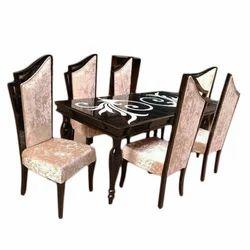 Teak Wood Six Seater Dining Table