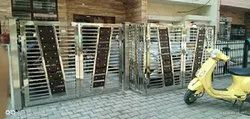 Black Stainless Steel SS Folding Gate, For Home