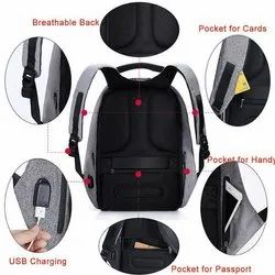 Black and Grey Anti Theft Back Pack