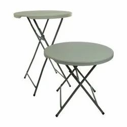 Mild Steel Stainless Steel Round Table, Size: 24 Inch