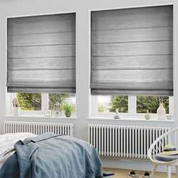 Fabric Grey Roll Up Roman Blind