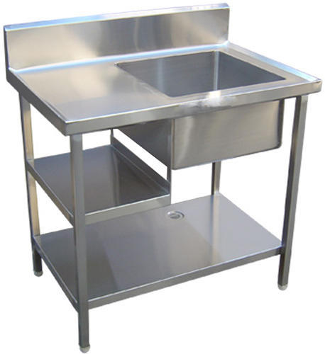 Akreeti SS Commercial Single Sink Unit With Work Table