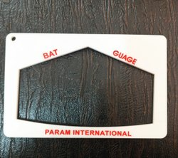 White Plastic Bat Gauge, Size: Full