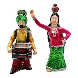 Punjabi Bhangra Couple Showpiece/Statue Decorative Gift Item