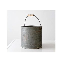 Metal Rock Bucket, For Home and garden use, Size: Customizable