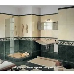 Green Marble Bathroom Tiles, Thickness: 16 mm