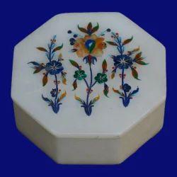 Marble Pietra Dura Jewellery Box