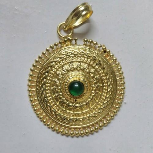 Handmade gold plated pendant imitation pendant krishna gems and handmade gold plated pendant aloadofball Gallery