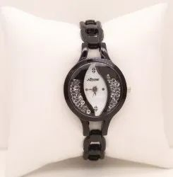 Brown Belt White Dial Ladies Wrist Watch