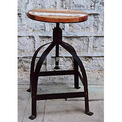 Designer Iron Frame Bar Stool
