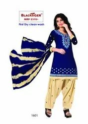 Full Cotton Bottom Rayon And Embroidery Suit
