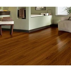 Rectangular Brown PVC Flooring, Thickness: 6-10 Mm