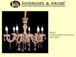 Hanging Crystal Chandelier White