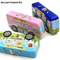 METAL BUS PENCIL BOX