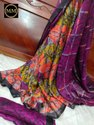 Georgette Silk Saree Trendy Georgette Silk Saree With Elegant Half And Half Shibori Pattern