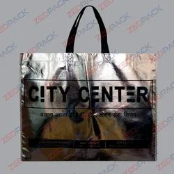 Metalised Non Woven Loop Handle Bags