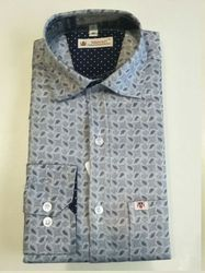 Full Sleeves Printed Mens Semi Casual Shirt