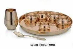 Copper Maharaja Thali Set