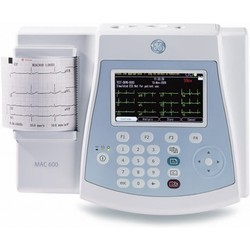 GE Mac 600 12 Lead Color Resting ECG Machine