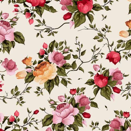 Digital Printed Floral Design Fabric Use Garments Rs 100 Meter