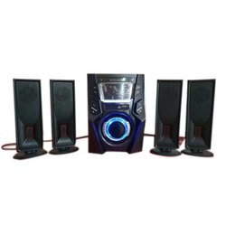 Black USB Multimedia Speaker Player System