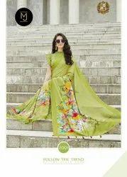 Degital Print Silk Saree