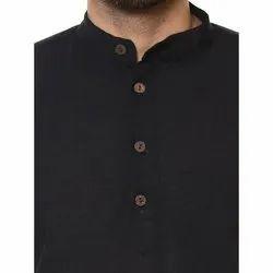 Casual Plain NN010 Mens Cotton Half Sleeves Short Kurta, Size/Dimension: S-XXL