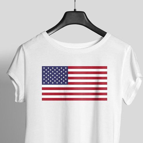 usa flag printed women graphic t shirt at rs 98 piece shastri rh indiamart com us flag vector graphic eagle and us flag graphics