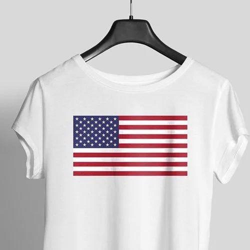 7a287d853a Usa Flag Printed Women Graphic T Shirt