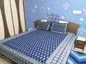 Indigo Print Double Bed Sheet