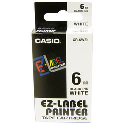 Casio XR-6WE1 Label Printer Tape Cartridge
