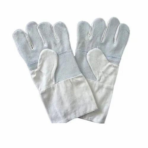White Cotton JEANS HAND GLOVES