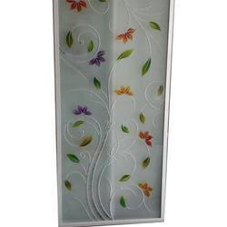 Printed Bathroom Door Glass
