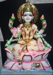 Traditional Marble Laxmi Statue