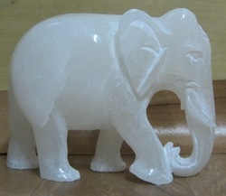 Marble Alabaster Elephant Statue For Decoration