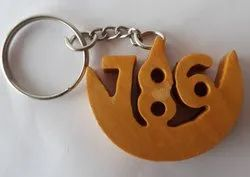 Wooden 786 Key Chain