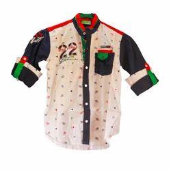 Cotton Regular Wear Boys Designer Shirt