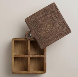 Tawa One Wooden Spice Box