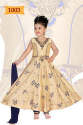 Girls Embroidered Wedding Wear Silk Suits