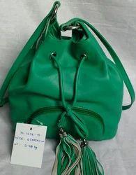 Fashionable Green Leather Stylish Botua Bag