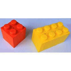 Red And Yellow Plastic Building Block