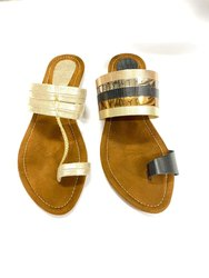 Women Suede Leather Kolhapuri Chappal