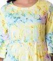 Designer Anarkali Rayon Printed Kurti