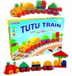 Multicolor Tutu Train Junior Educational Building Blocks