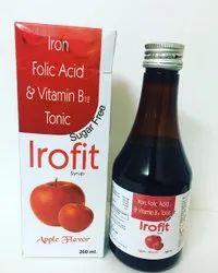 Ironfit Iron Folic Acid , Vitamin B12,Syrup Sugar-free Apple Flavour