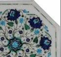 Italian White Marble Dining Round Table Top