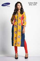 Ladies Georgette Full Sleeve Red Kurti
