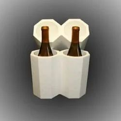 White Round Bottle Packaging Thermocol Box, Thickness: 5 - 12 Mm