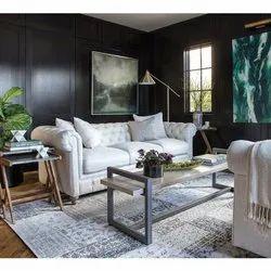 White Leather Sofa Set